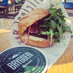 A must try eggplant hummus burger from bryggerihelsinki at Foodhellip